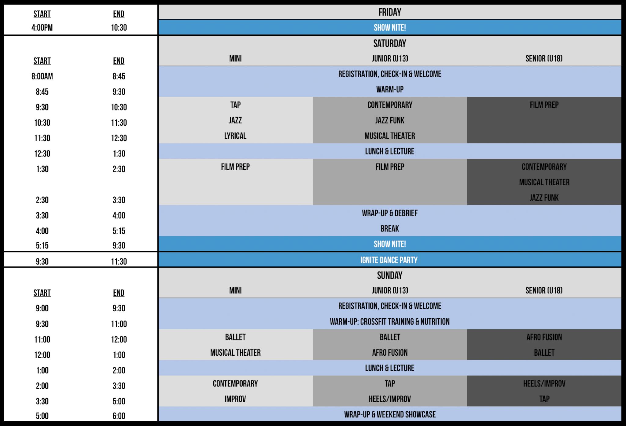 Pittsburgh Final Schedule
